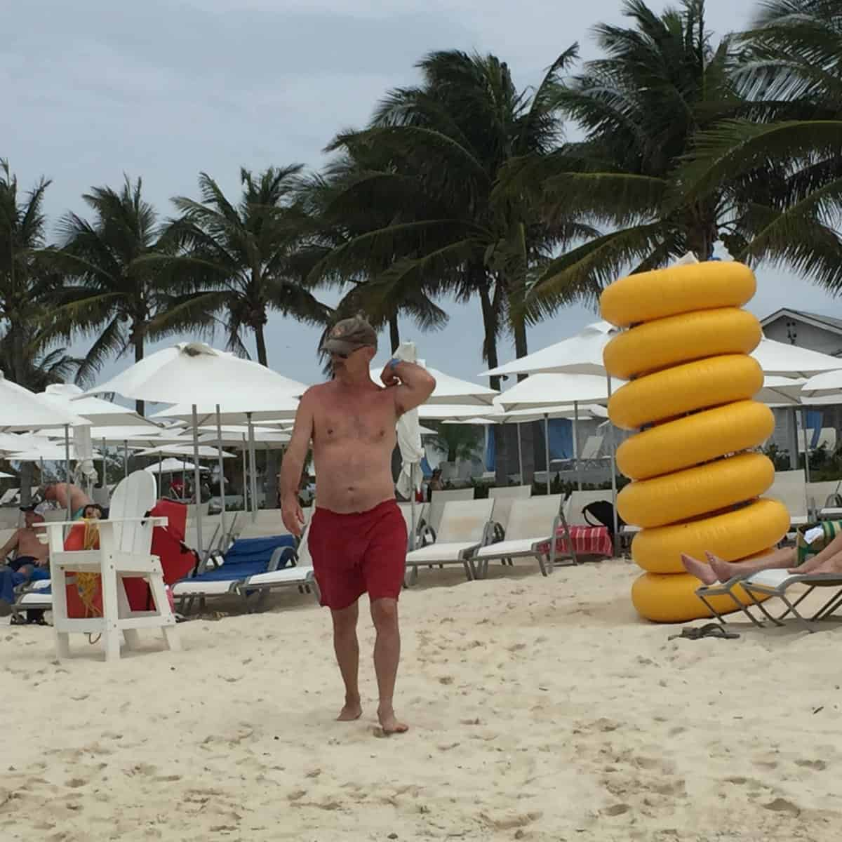 Dan, on the private island while at Nassau