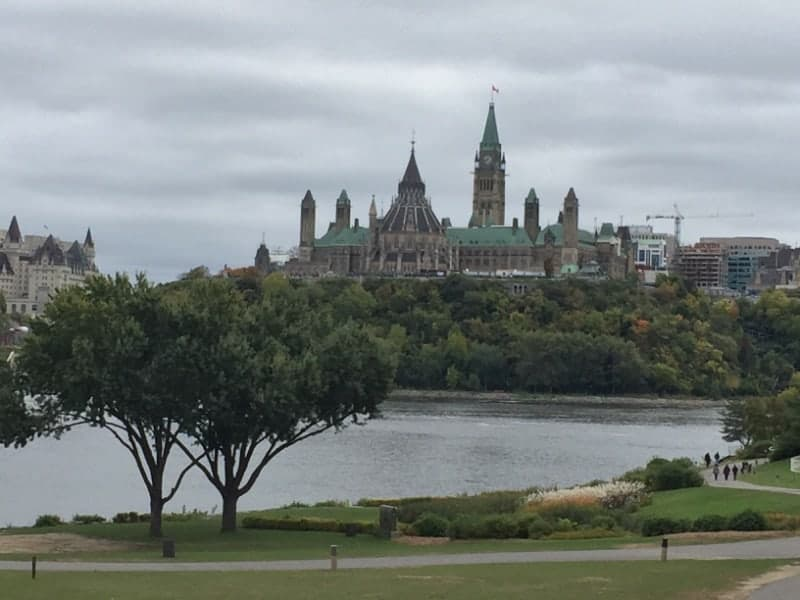 Looking across the river to Ottawa
