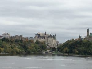 Looking across the river to Ottawa - October 8, 2018