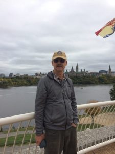 Dan and looking across the river to Ottawa - October 8, 2018